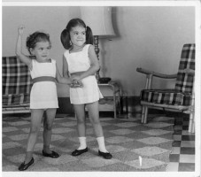 IMAGE Carla and her sister when starting ballet in Kuala Lumpur IMAGE